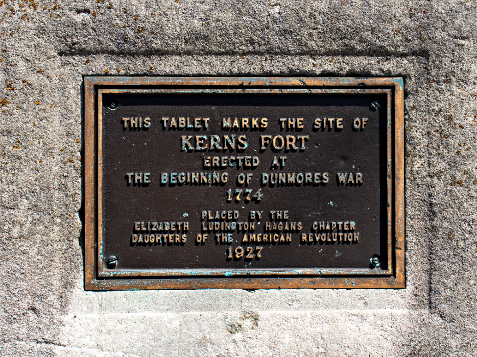 plaque in front of kerns fort