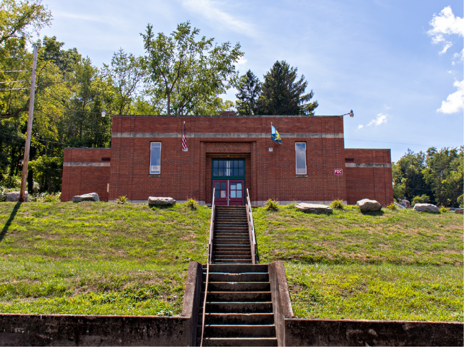 Outside view of the old school building